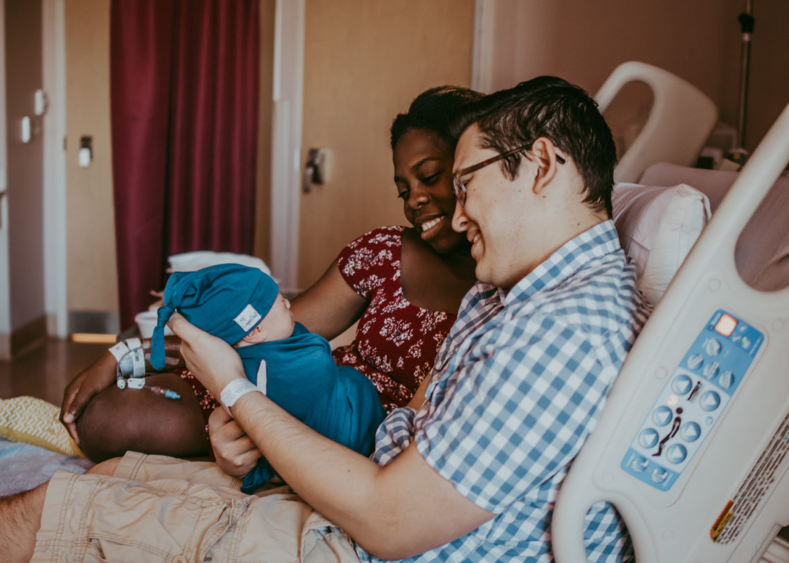 the joy of parents after experiencing their birth story